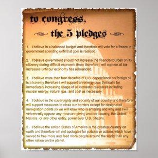 5 Pledges Glenn Beck Poster print