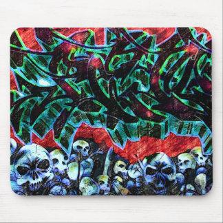 5 Pointz New York Skulls Graffiti Mouse Pad