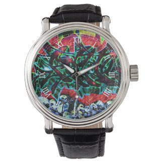 5 Pointz New York Skulls Graffiti Wristwatch