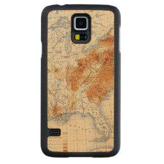 5 Population 1820 Carved® Maple Galaxy S5 Slim Case