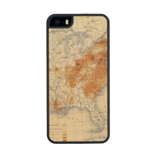 5 Population 1820 Carved® Maple iPhone 5 Case
