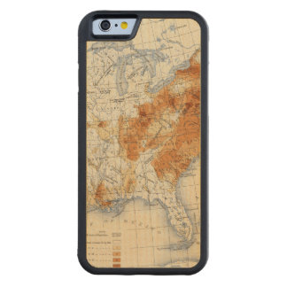 5 Population 1820 Carved® Maple iPhone 6 Bumper Case