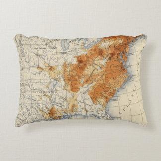 5 Population 1820 Decorative Pillow