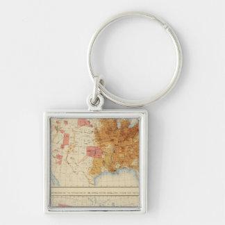 5 Population 1870, 1880 Key Chain
