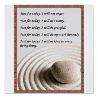 5 Precepts of Reiki - Poster