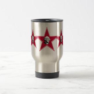 5 President Stars Design Travel Mug