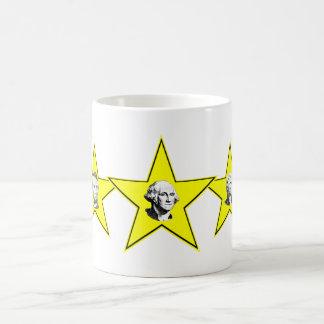5 presidente Stars Yellow Design Tazas De Café