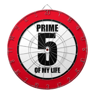 5 - prime of my life dartboard with darts