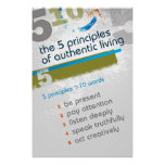 5 Principles 10 Words - Poster