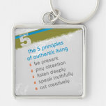 5 Principles 10 Words - Square Keychain