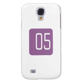 #5 Purple Square Galaxy S4 Cover