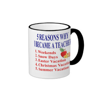 5 razones hice una taza divertida del profesor