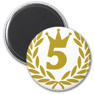 5-real-laurel-crown magnet
