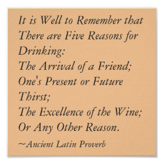 5 Reasons for Drinking Poster