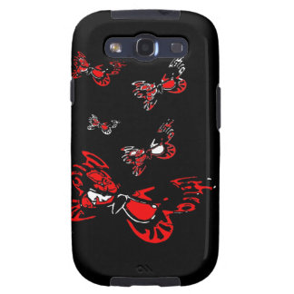 5 Red Butterflies Galaxy S3 Cover