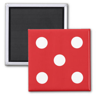 5 Red Dice Magnet