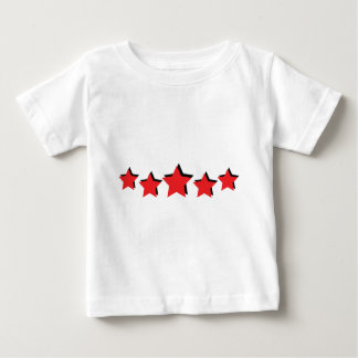 5 red stars deluxe baby T-Shirt