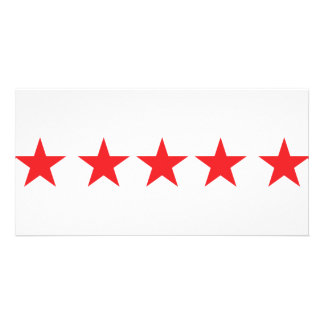 5 red stars icon deluxe card