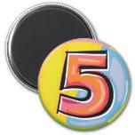 5 REFRIGERATOR MAGNETS