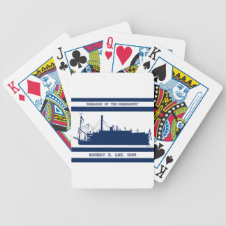 5 rob e lee blue design bicycle playing cards