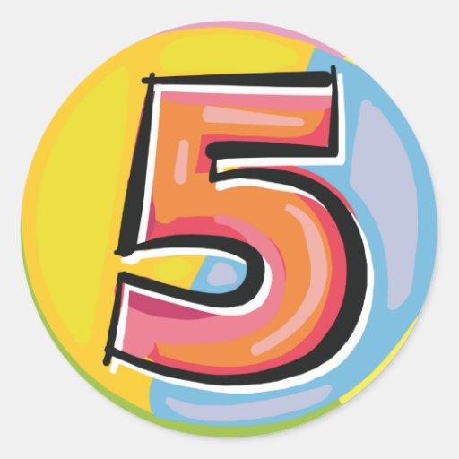 5 ROUND STICKER