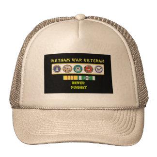 5 SERVICES VIETNAM WAR VET TRUCKER HAT