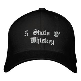 5 Shots O' Whiskey Embroidered Baseball Hat