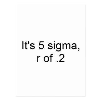5 sigma - r de .2 postales