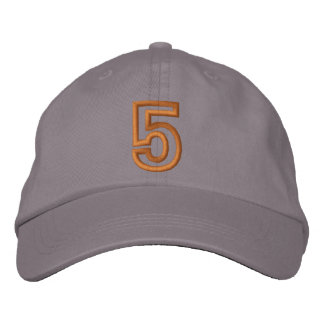 """""""5"""" Small Athletic Number Baseball Cap"""
