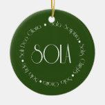 5 Solas Ceramic Ornament