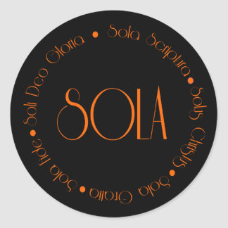 5 Solas Classic Round Sticker