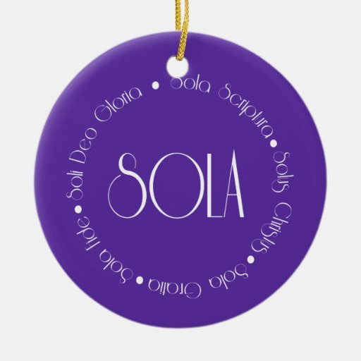 5 Solas Double-Sided Ceramic Round Christmas Ornament
