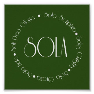 5 Solas Poster