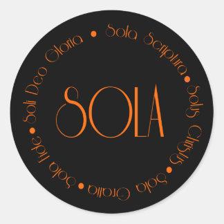 5 Solas Round Sticker
