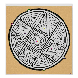 5 solutions maze design poster