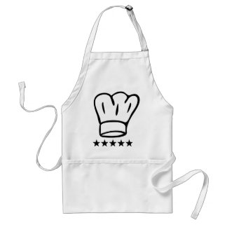 5 star chefhat adult apron