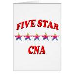 5 Star CNA Greeting Cards