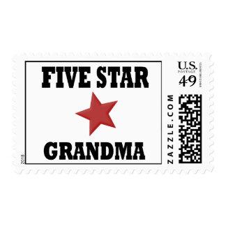 5 STAR GRANDMA POSTAGE STAMP