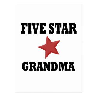 5 STAR GRANDMA POSTCARD