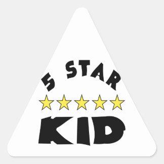 5 Star Kid Triangle Sticker