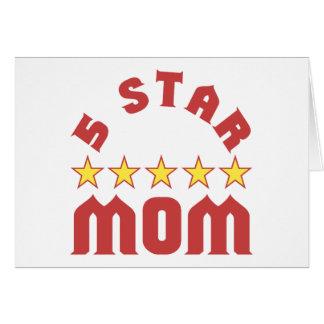 5 Star Mom Card