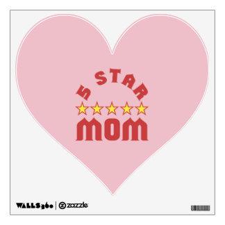 5 Star Mom Wall Sticker
