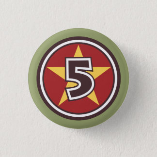5 Star Pinback Button