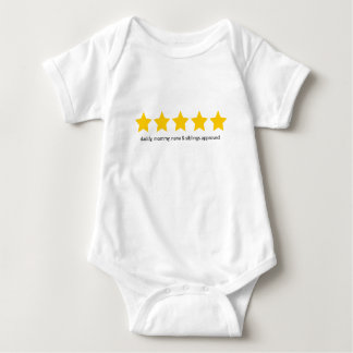 5 star rating review baby bodysuit