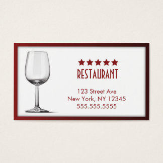5 Star Restaurant Business Card