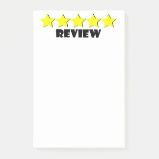 5 Star Review Post-It Notes