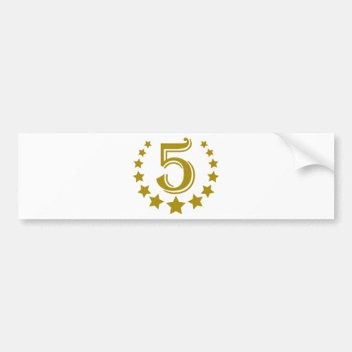5 stars-Birthday.png Pegatina De Parachoque