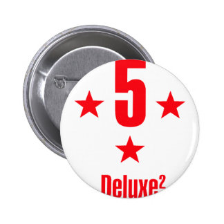 5 stars deluxe pinback button
