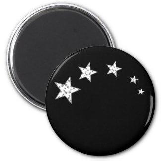 5 Superstars 2 Inch Round Magnet