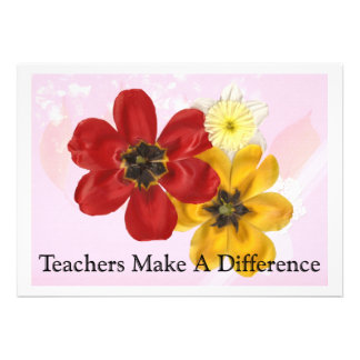 5 Teachers Make a Difference Custom Announcements